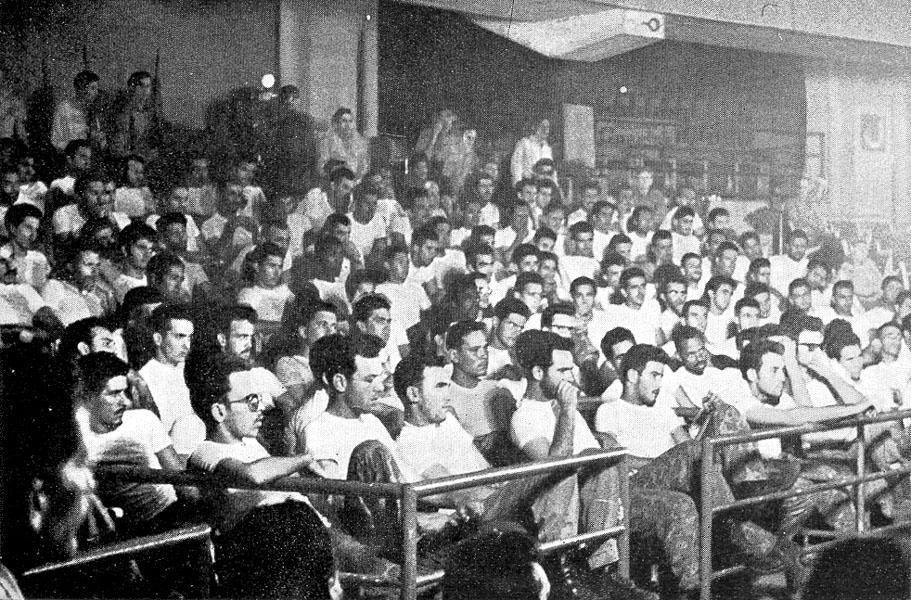 2506 Brigade prisoners at Havana sports palace, 1962
