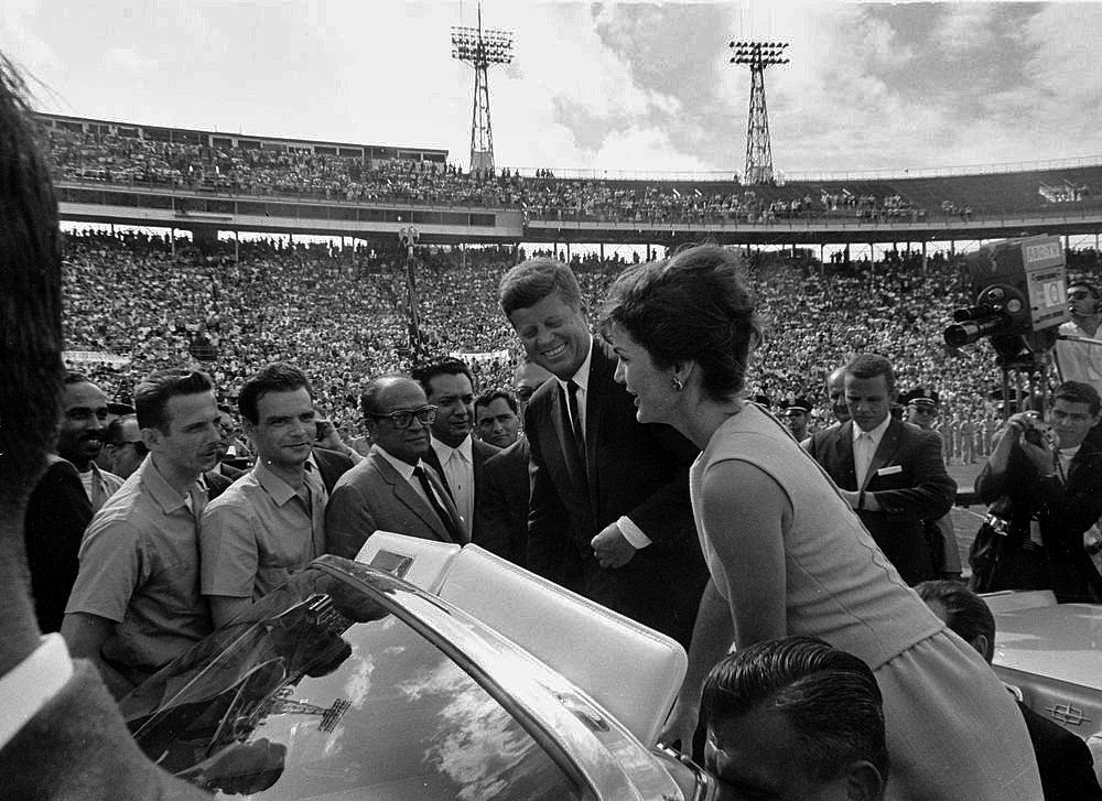 President Kennedy and First Lady Jacqueline Kennedy