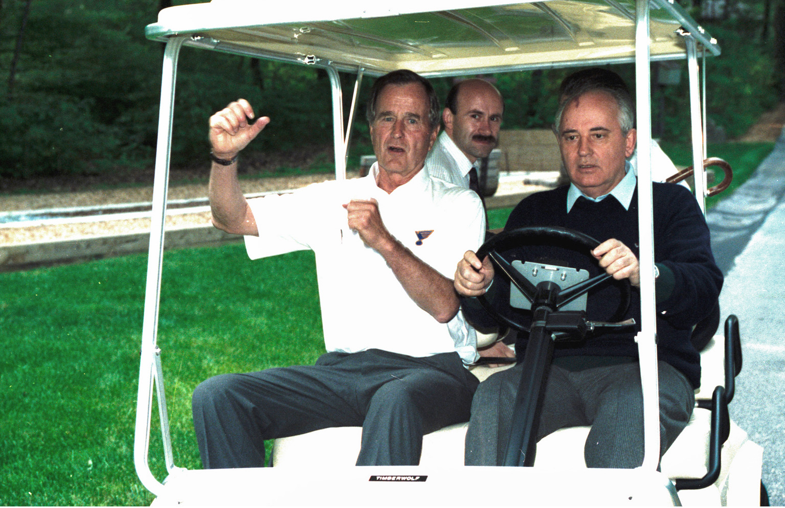 golf cart driving lessons to Gorbachev
