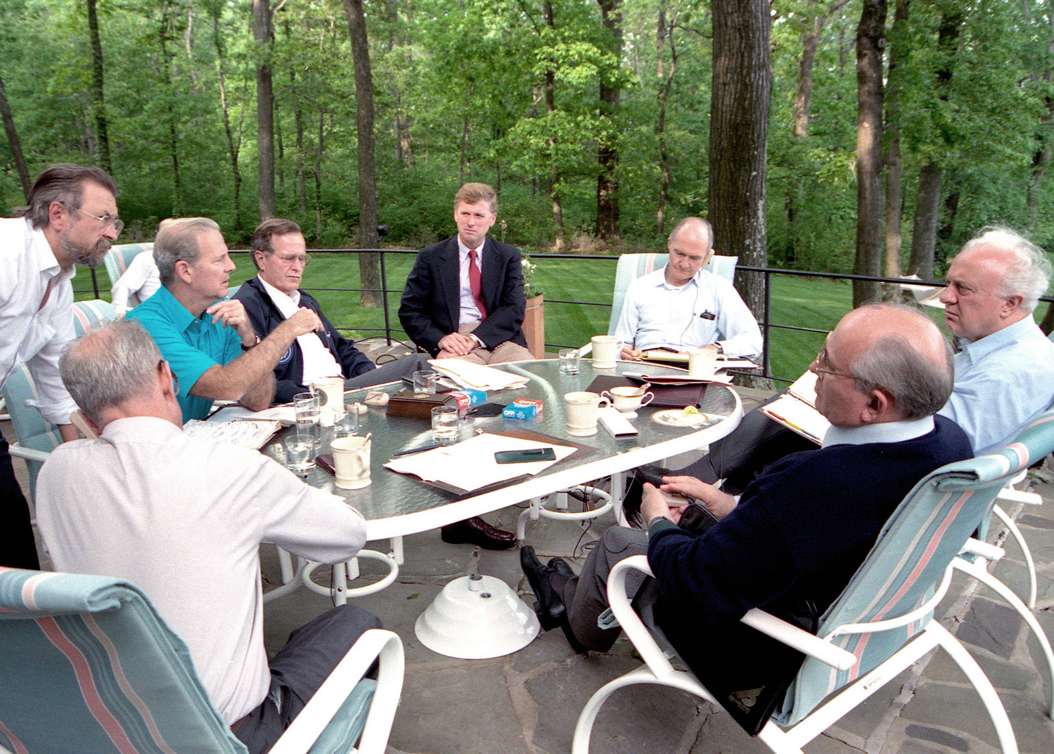 The working sessions at Camp David