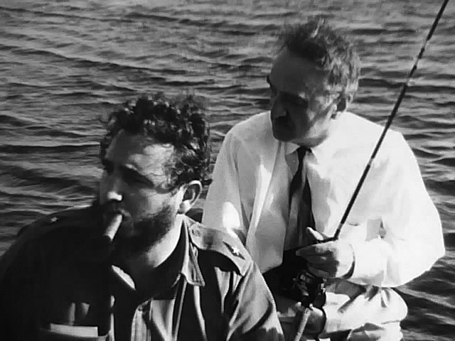 Fidel Castro and Mikoyan fishing