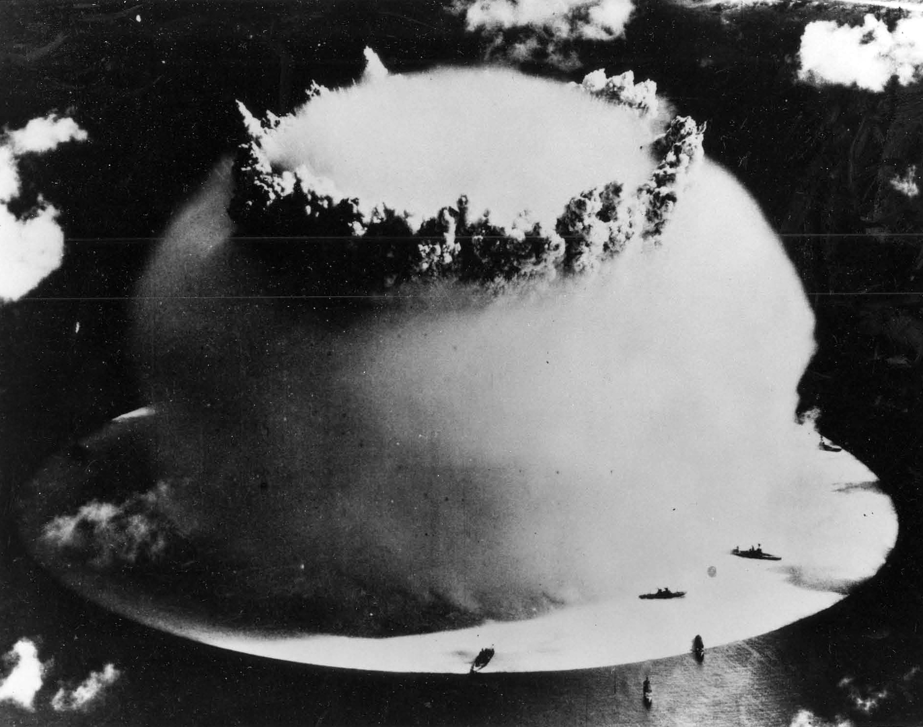 Image result for the first nuclear weapons test in peacetime 1946