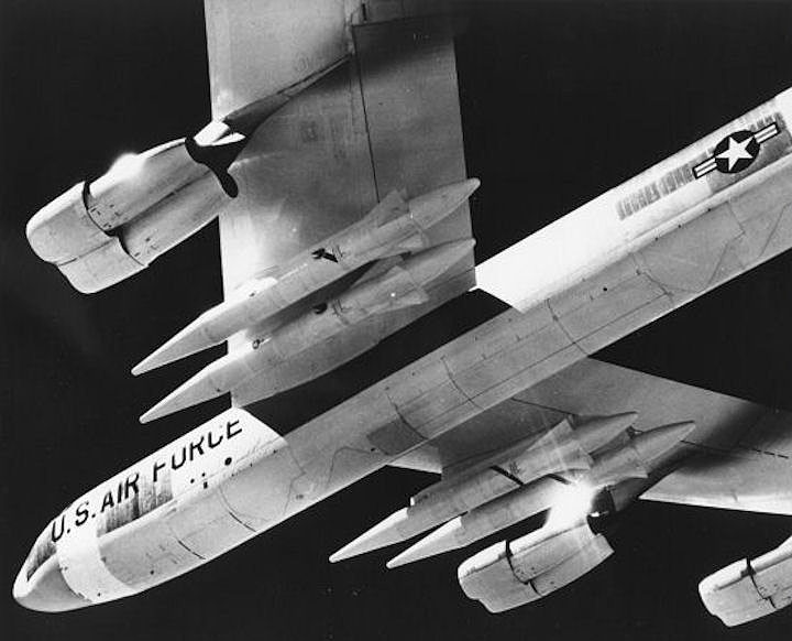 The Skybolt missile deployed on a B-52