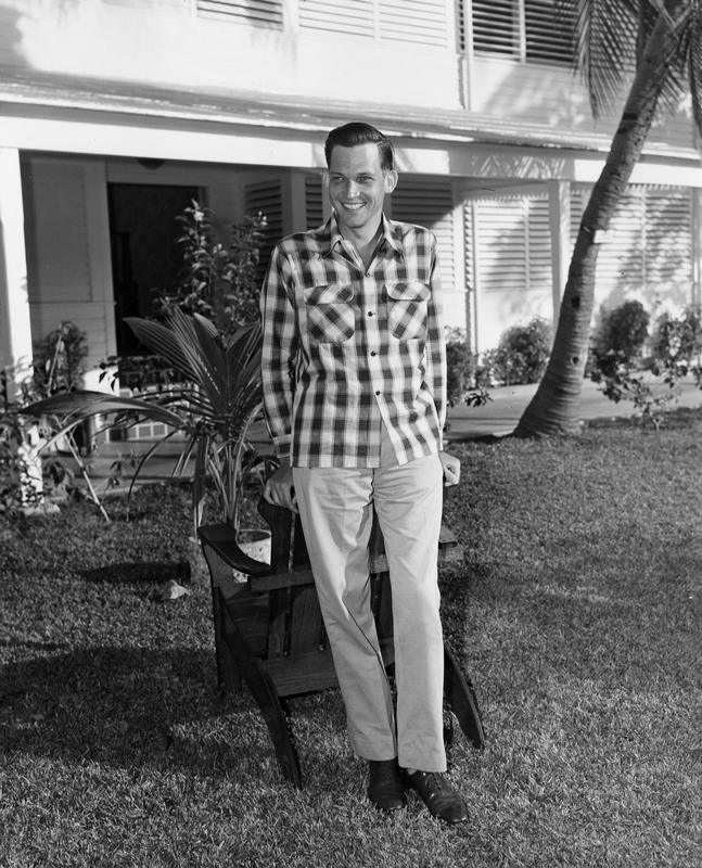 Elsey, shown on the lawn of the Little White House in Key West, Florida, ca. December 1949.