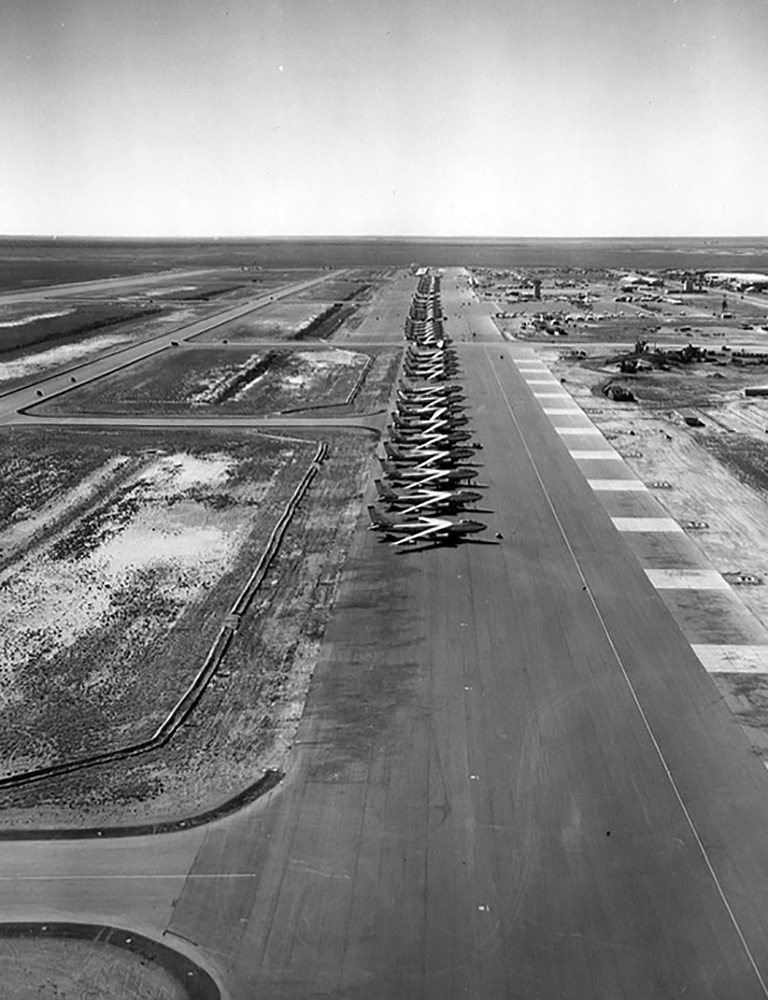 B-47s strategic bombers parked at the U.S. base at Sidi Slimane