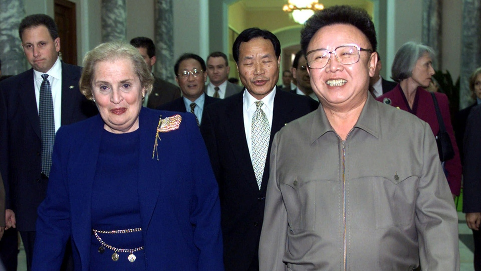 Kim Jong Il and Madeleine Albright