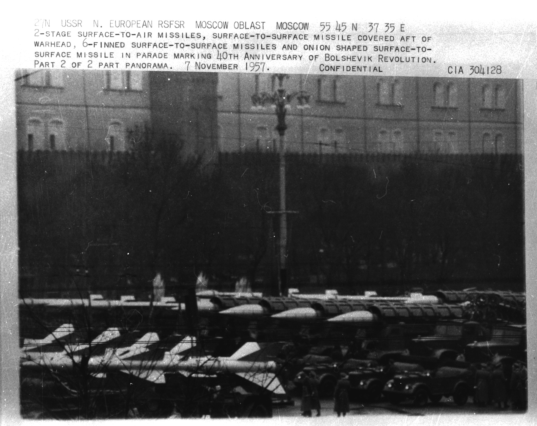 Moscow parade photos from Nov 7, 1957