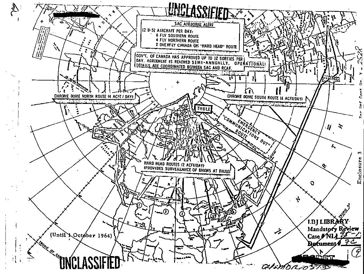 airborne alert routes map