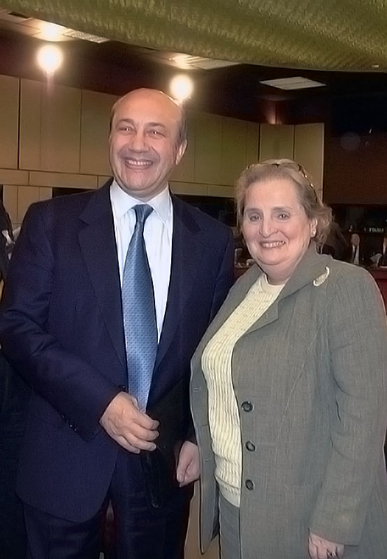 U.S. Secretary of State Madeleine Albright with Russian Foreign Minister Igor Ivanov.
