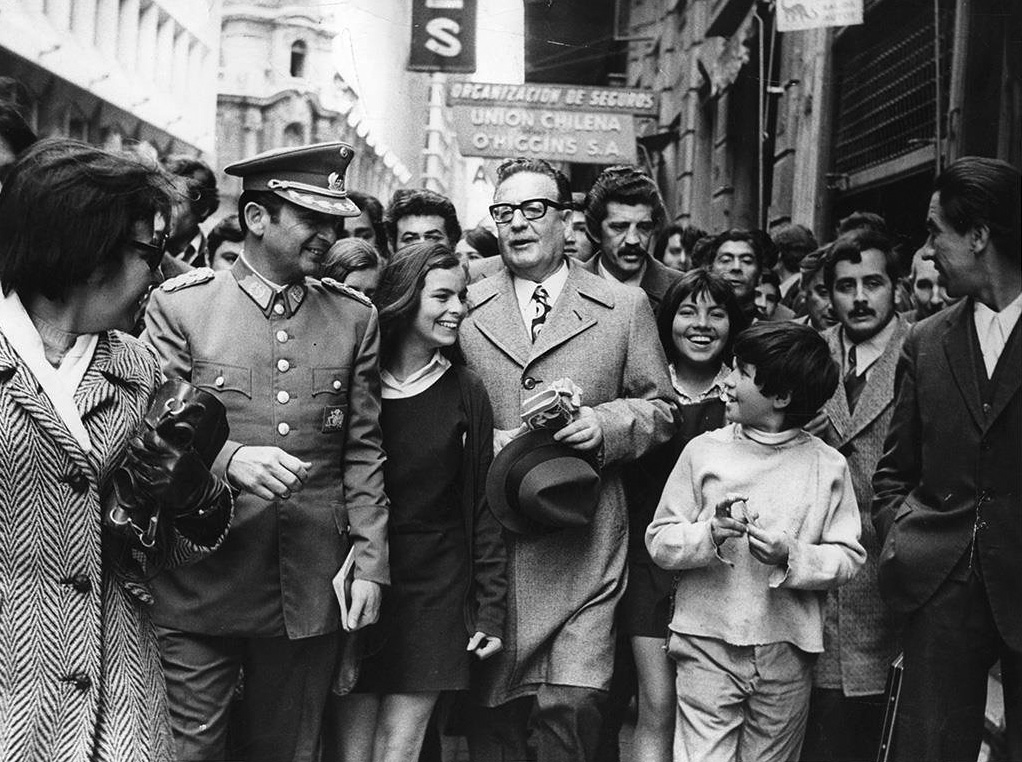 Allende on the street