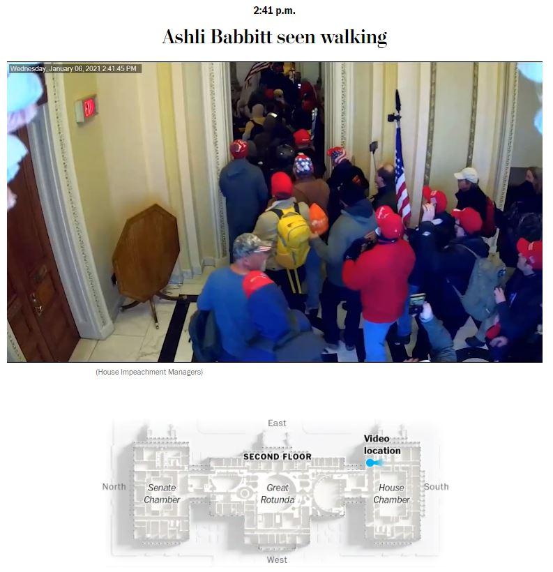 Ashli Babbitt seen walking