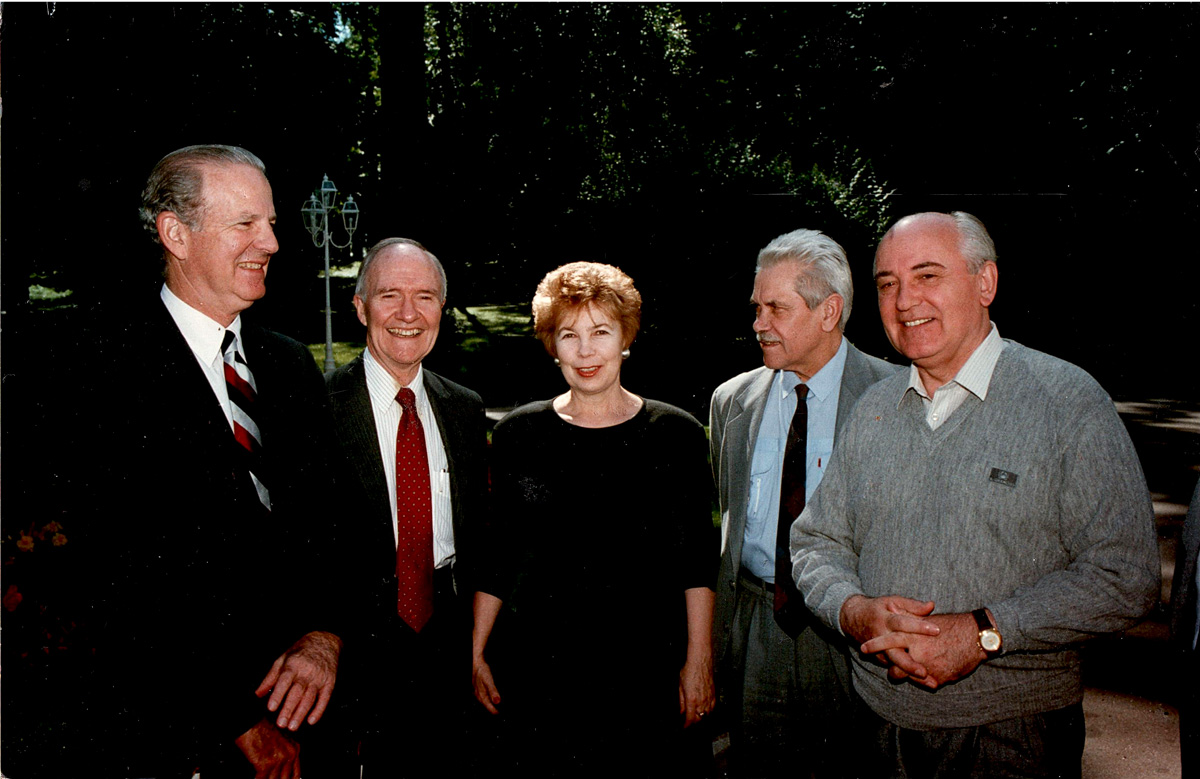 baker scowcroft raisa chernyaev gorbachev at camp david 1990