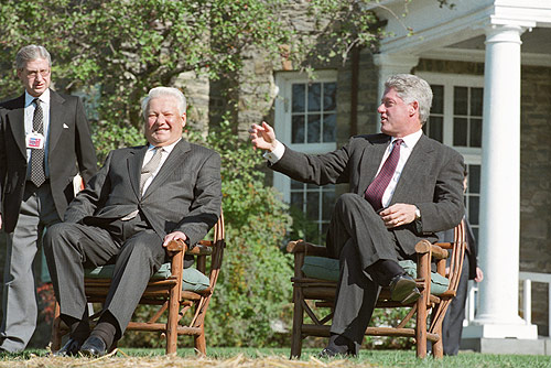 President Yeltsin and President Clinton at Hyde Park, New York