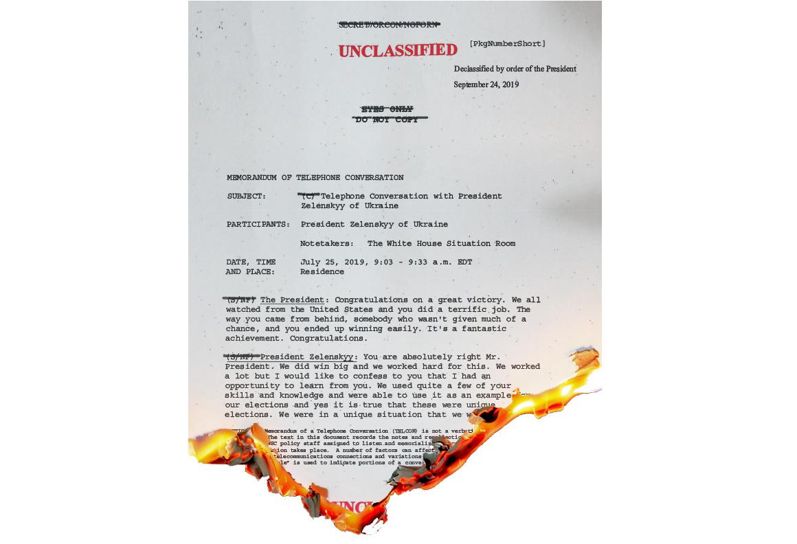 burning document