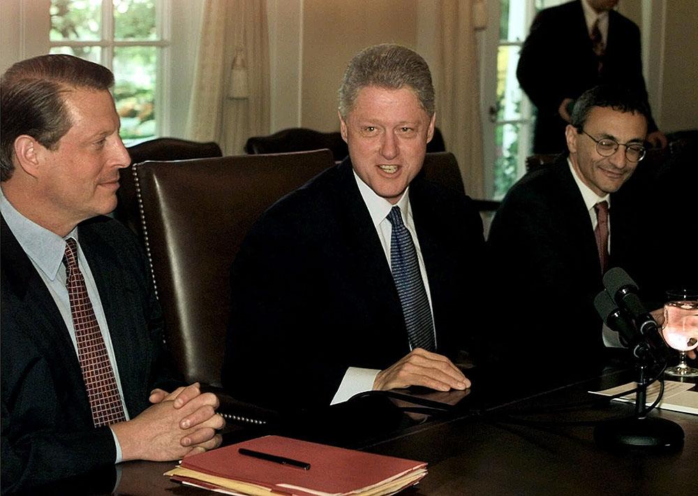 Clinton, Gore, and Podesta