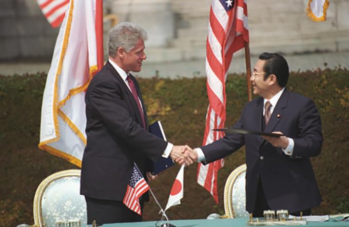 President Clinton and Prime Minister Ryutaro Hashimoto