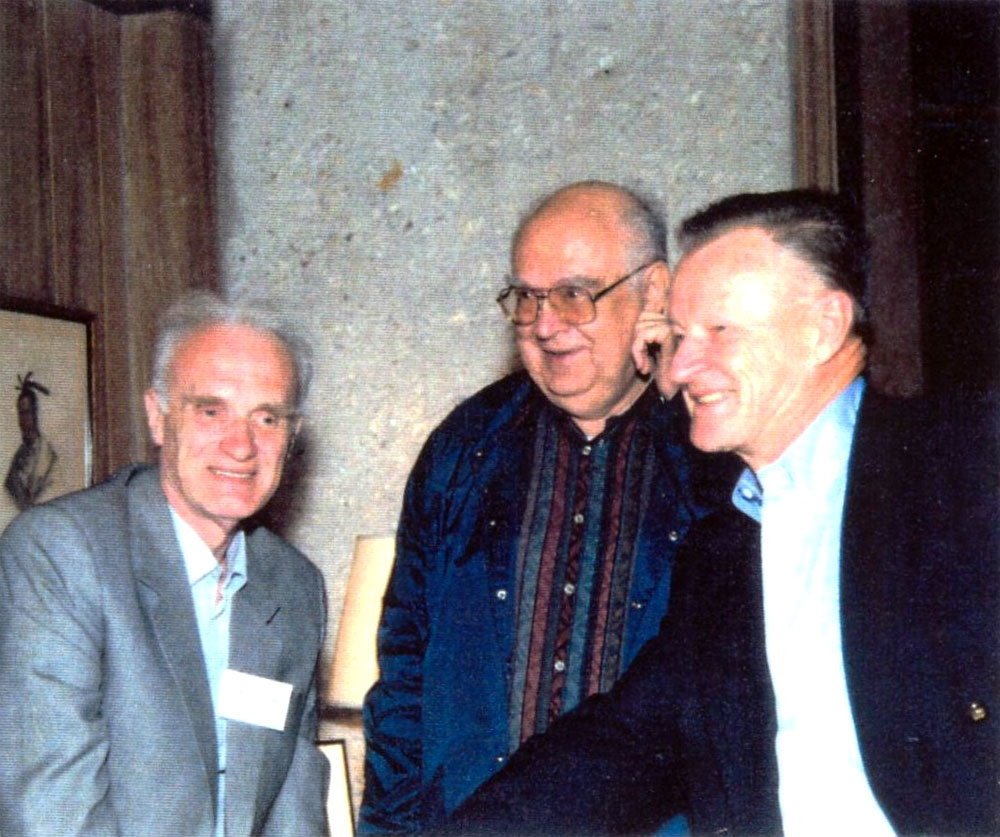 Dobrynin with ex-Soviet General Nikolai Detinov and former National Security Advisor Zbigniew Brzezinski, Musgrove conference, May 1994