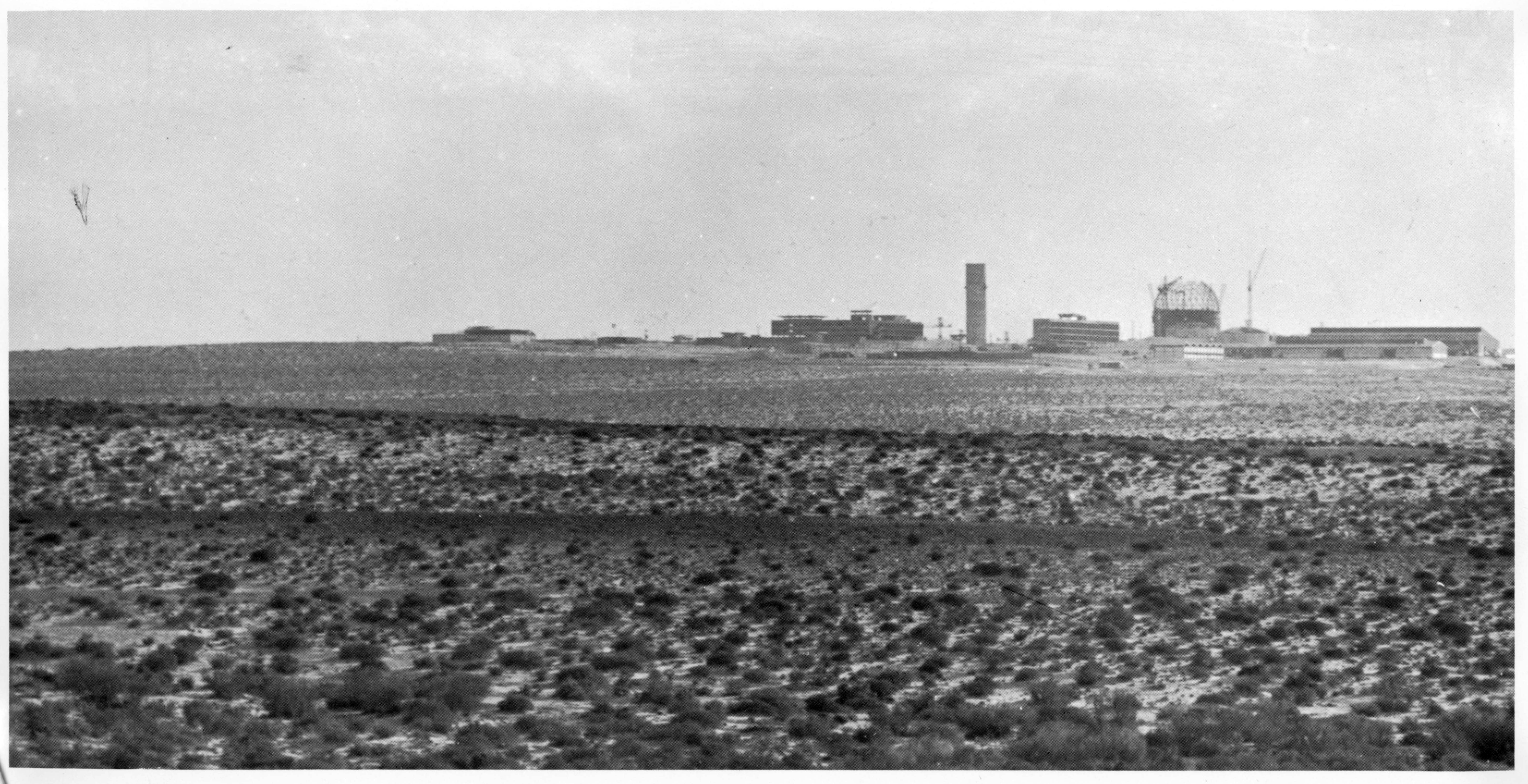 construction site near Dinoma in the Negev desert