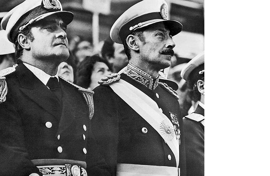 Coup leaders Admiral Massera and General Videla