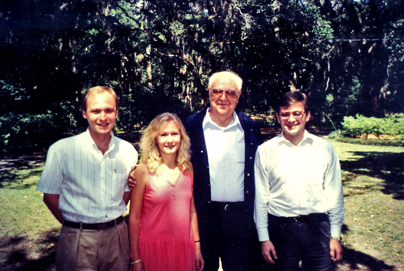 Detinov with Russian scholars Ilya Gaiduk, Svetlana Savranskaya, and Vlad Zubok, Musgrove conference, May 1994