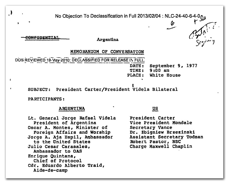 Declassified Diplomacy': Argentina | National Security Archive