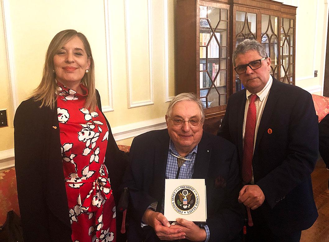 Gabriela Quinteros, Tex Harris, and Carlos Osorio