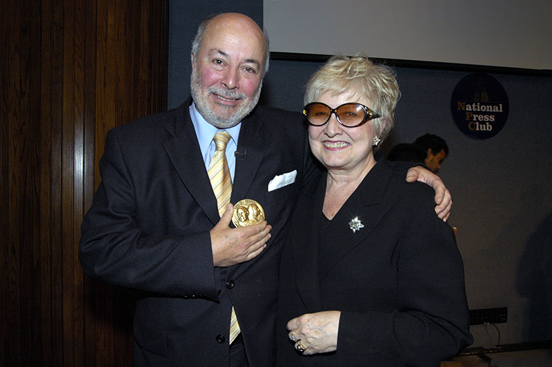 Judge Guzman with Joyce Horman, at the 2005 Letelier-Moffitt Human Rights Awards in Washington D.C.