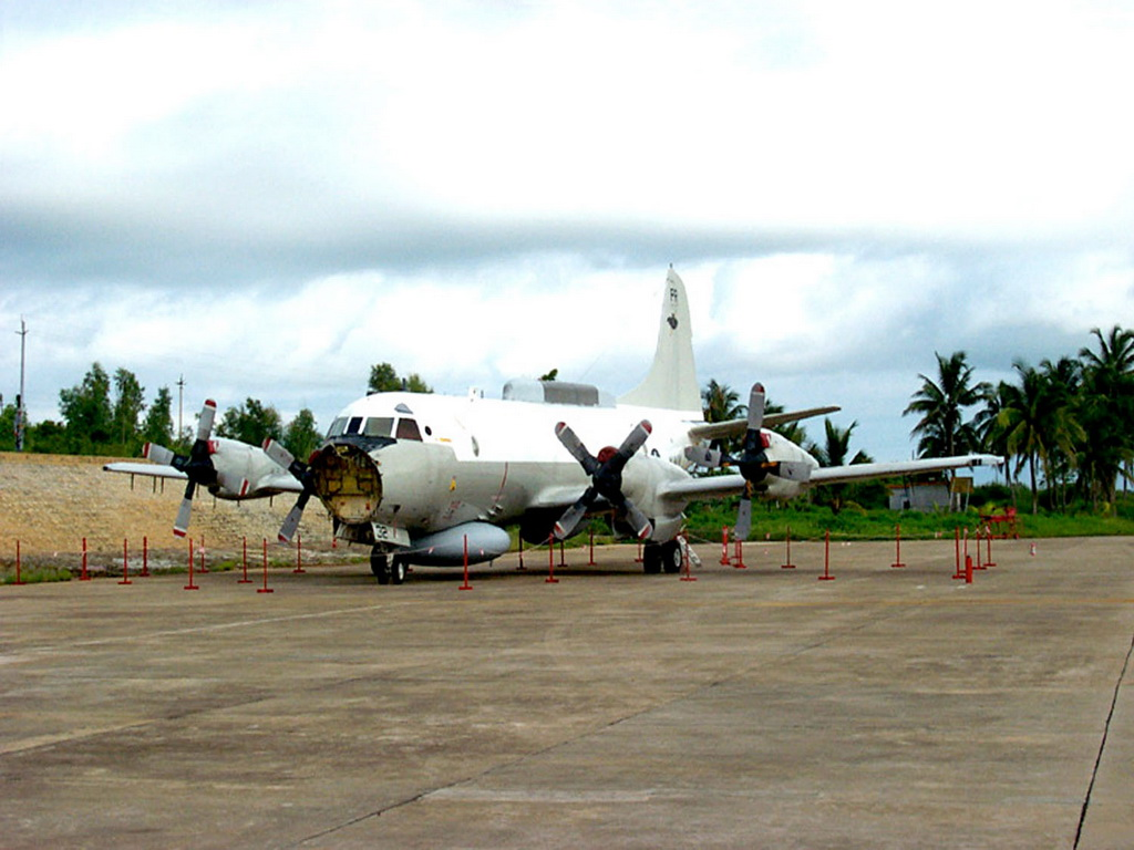 Lockheed EP-3 reconnaissance aircraft that landed on Hainan island after a collision with a Chinese jet
