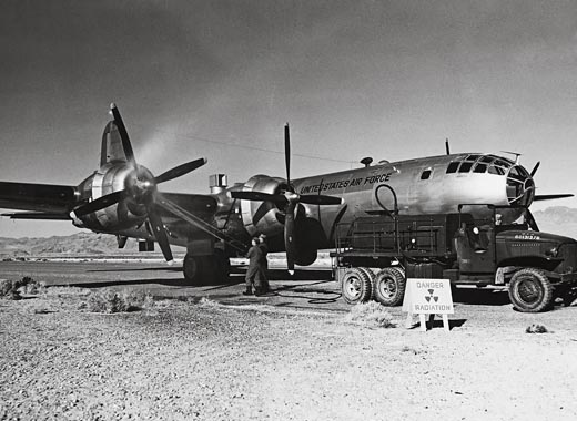B-29 sampler aircraft with Gunk degreaser