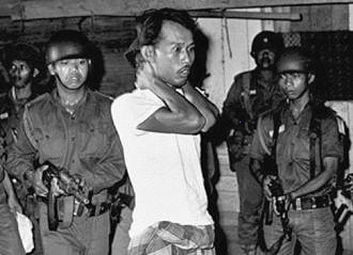 An Alleged PKI Member After His Arrest By Indonesian Security Forces October 1965
