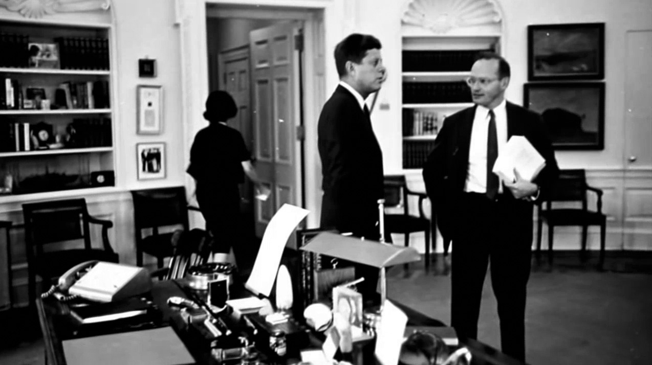President John F. Kennedy and national security adviser McGeorge Bundy