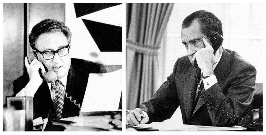 Kissinger, Nixon, phone