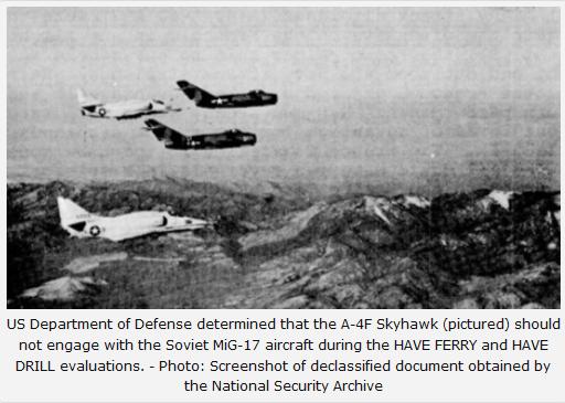 """Område 51 används för att testa en """"hemligt förvärvad"""" sovjetisk MiG-21 från Israel"""