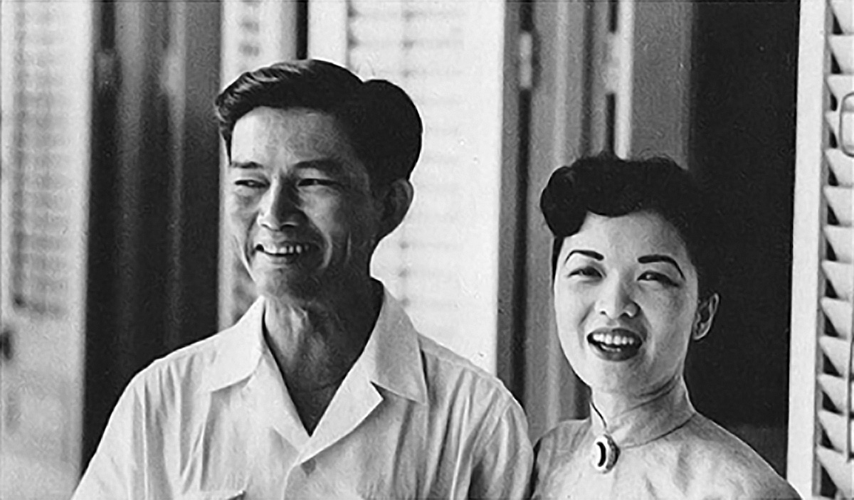 Ngo Dinh Nhu, brother of President Diem, and Madame Nhu