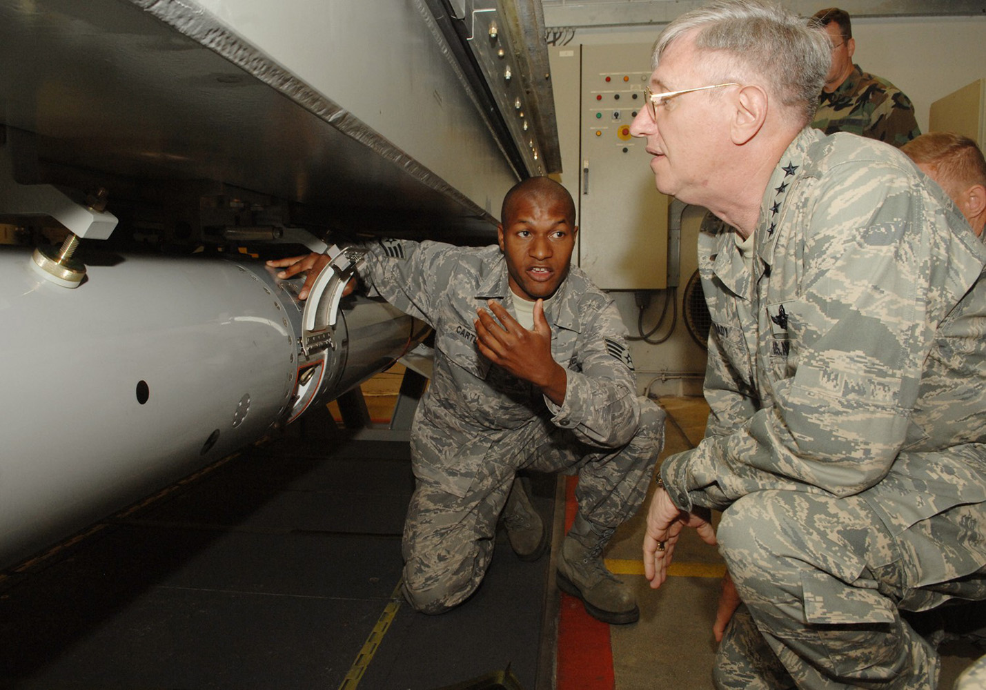 General Roger Brady watches B61 nuclear weapon disarming procedures