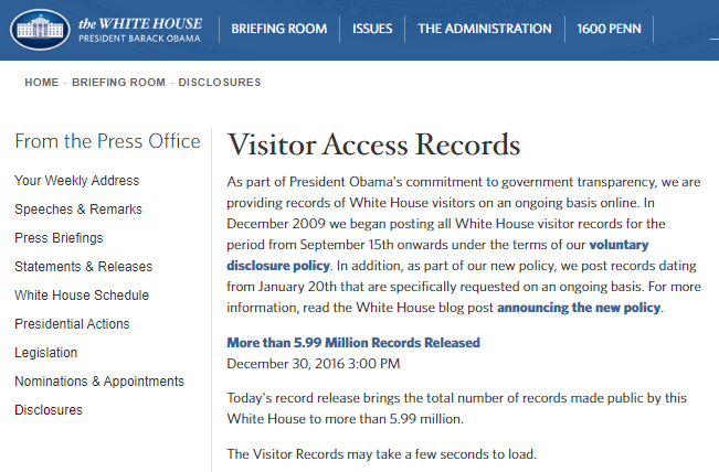 Obama visitors