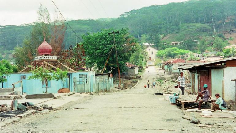 Mountain City, north of Dili:                                   post-electoral violence