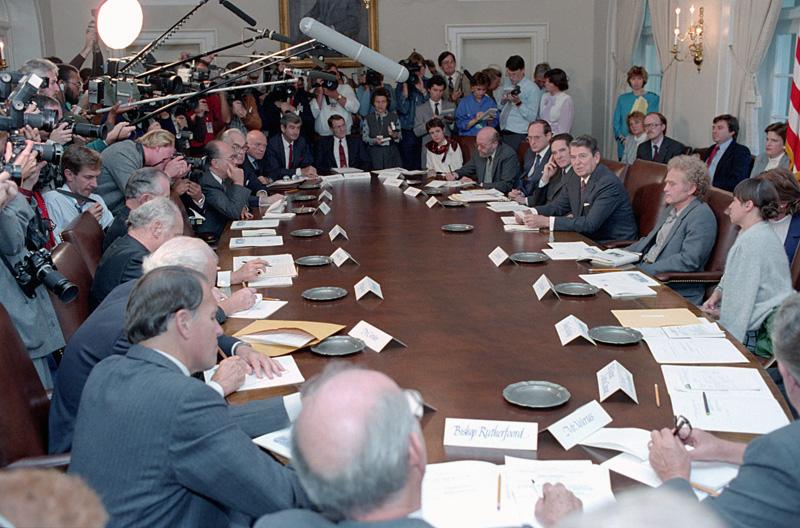 Orlov and Reagan face the media