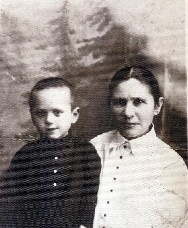Yuri with his grandmother Pelageya in 1929.