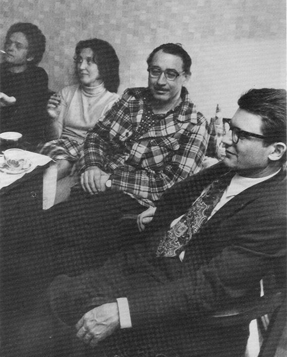 Orlov, Irina Ginzburg, Valentin Turchin, and Andrei Amalrik in Moscow, 1975.