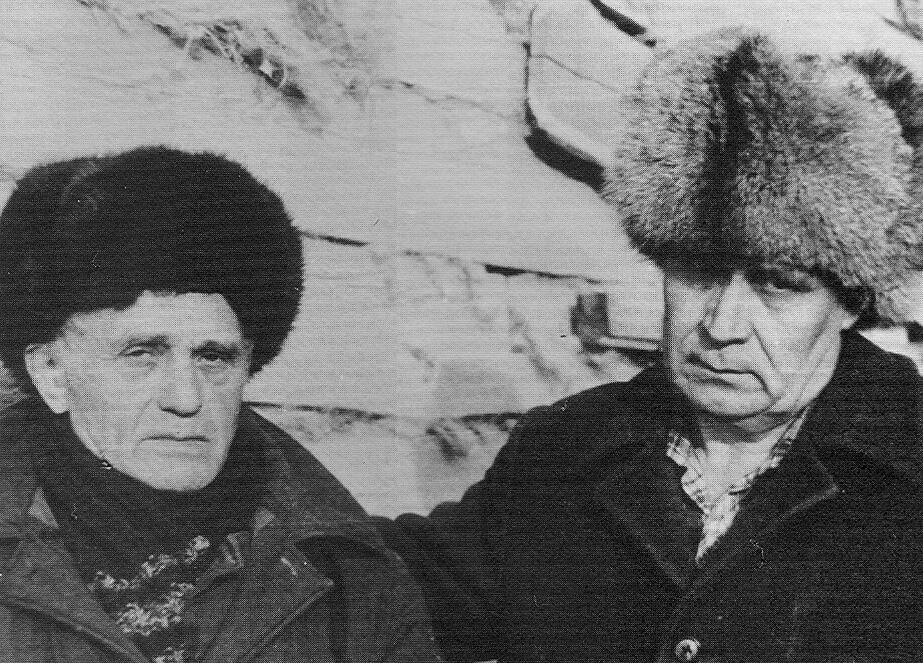 Yuri Orlov and Evgeni Tarasov in Siberia 1984.