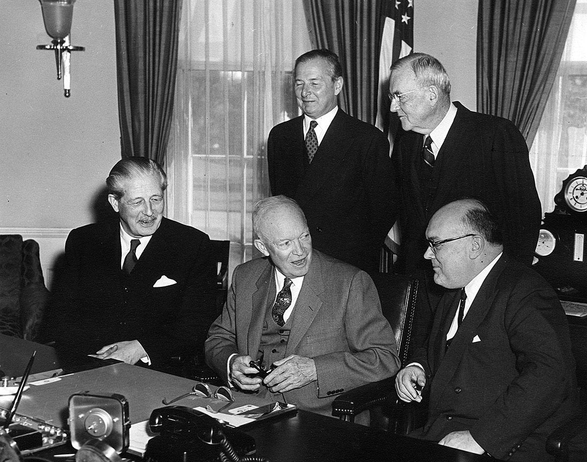 President Eisenhower and Prime Minister Macmillan