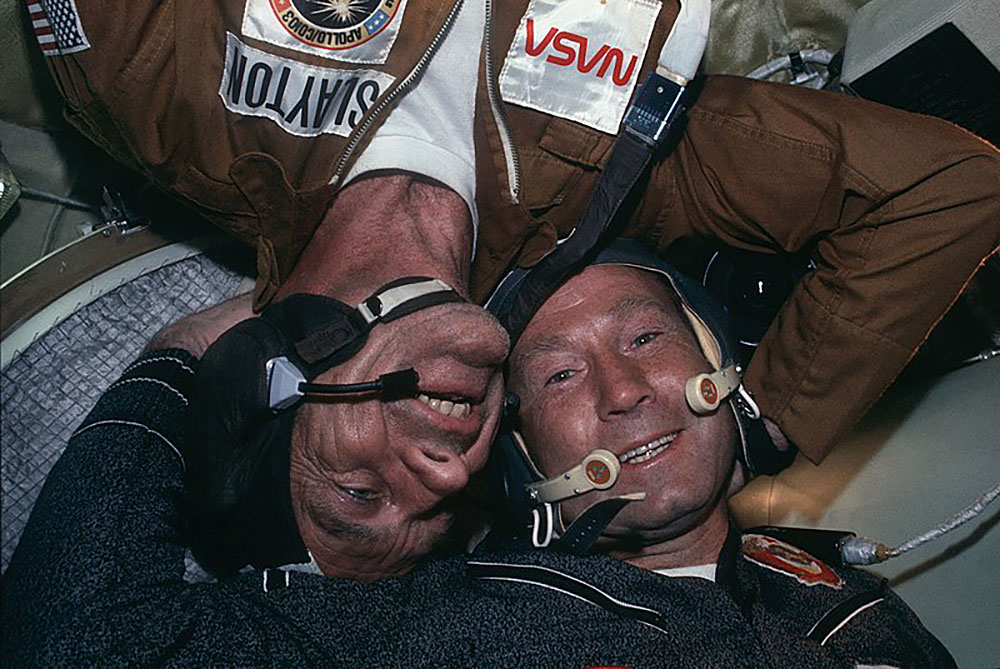 Donald Slayton and Alexei Leonov