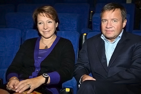 Yeltsin's daughter Tatiana with her husband Valentin Yumashev.